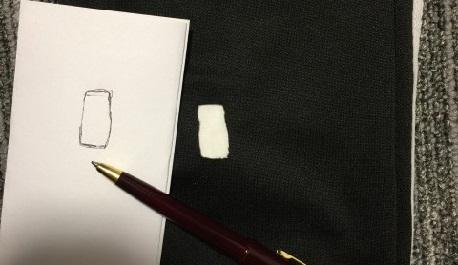 ジャージの穴を型取りした写真